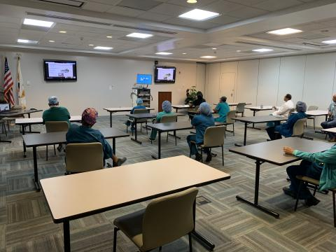 Operating Room staff undergoing a training on the new Storz Laparoscopic Tower on Thursday, June 18, 2020